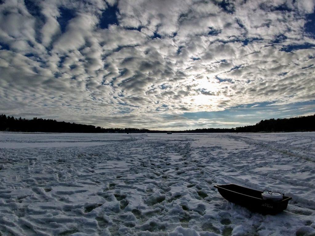 Dunham Lake in Winter
